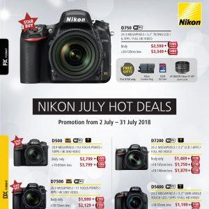 Nikon July 2018 DSLR