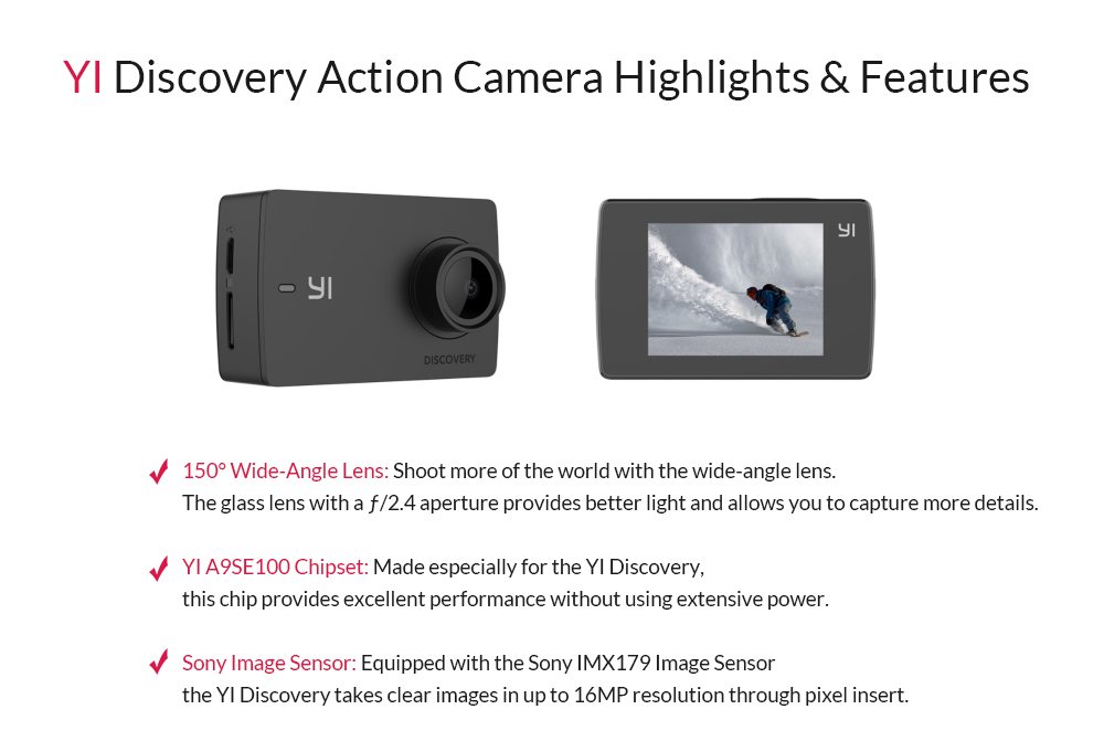 Yi Discovery Action Camera Camerasg